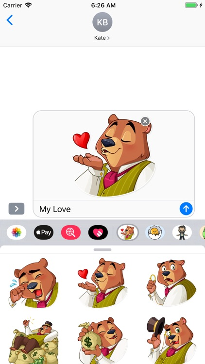 Todd Bear Moods For iMessages