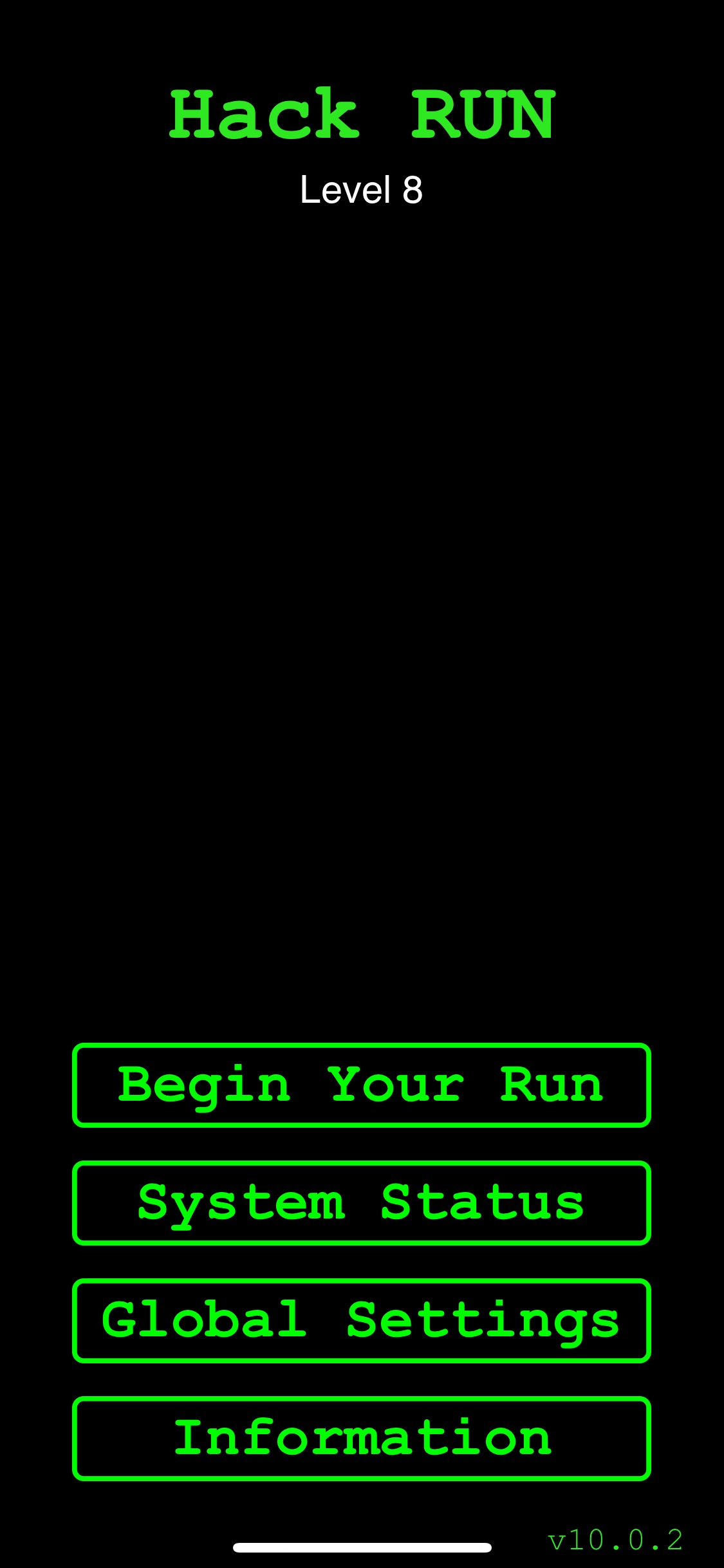 Screenshot do app Hack RUN