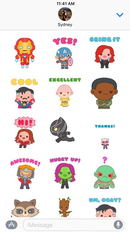Marvel Stickers: Hero Mix screenshot-3