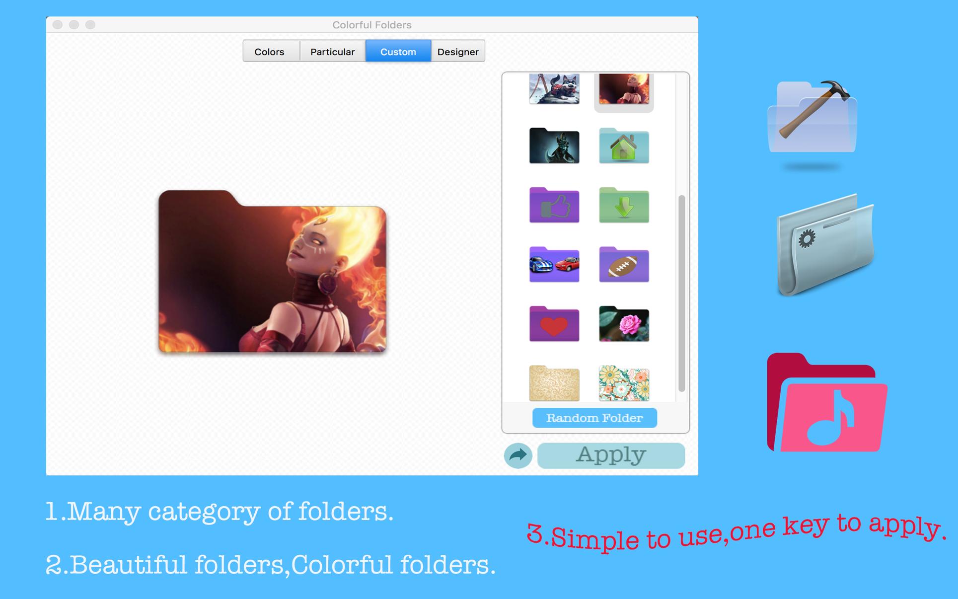 Colorful Folders Mac 破解版 星语多彩文件夹