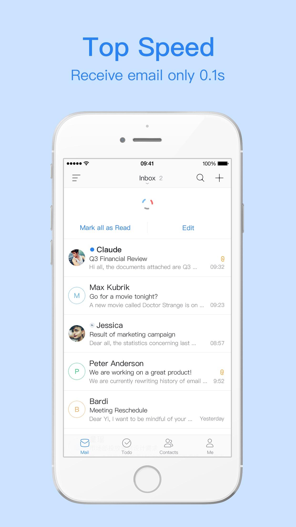 Mail Master Pro by NetEase Screenshot