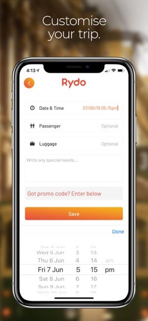 Rydo - Australia's taxi app on the App Store