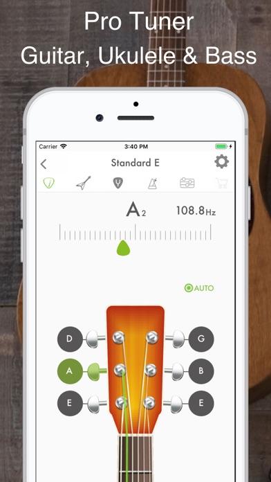 Guitar, Bass and Ukulele Tuner screenshot one