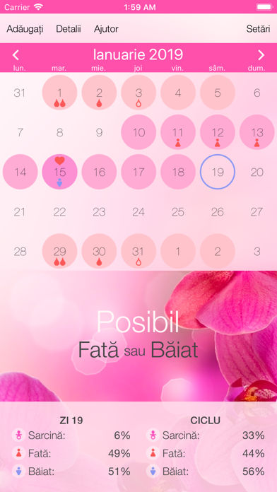 Screenshot for Calendarul menstrual in Romania App Store