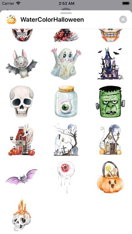 WaterColor Halloween Stickers screenshot-6