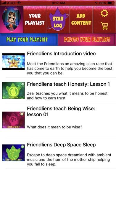 Screenshot of Friendliens App