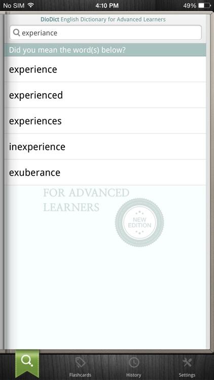 DioDict4 English Advanced Dict screenshot-6