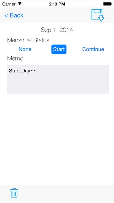 يوميات التقويم الحيضلقطة شاشة3