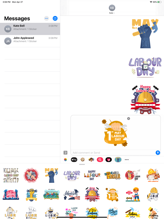 May Labour Day Stickers screenshot 6