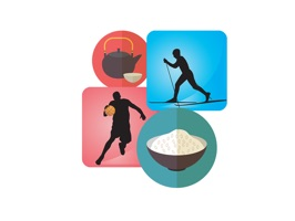 The FoodAndSportSt is a funny sticker which are showed the foods with the sports