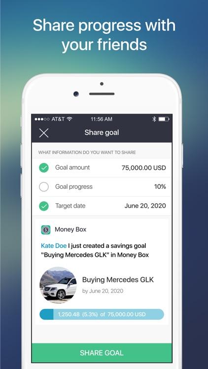 Money Box - Savings Goals App screenshot-5