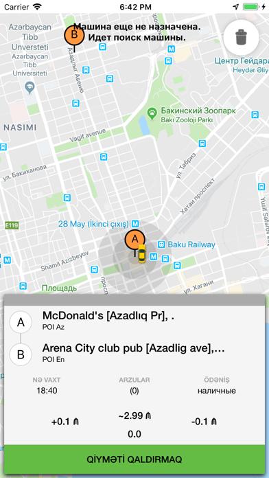 Screenshot for Salam Taxi in Azerbaijan App Store