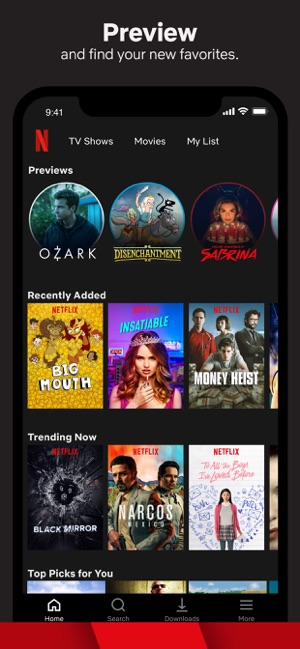 list of movie streaming apps for iphone