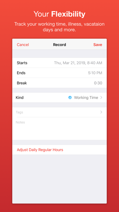 WorkTimes 5 screenshot three