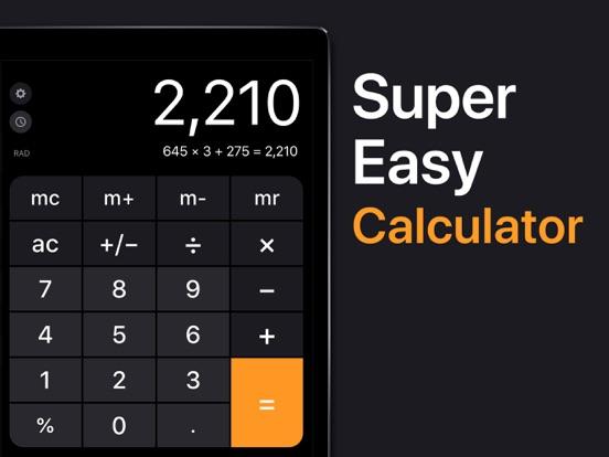 Calculator for iPad screenshot 1