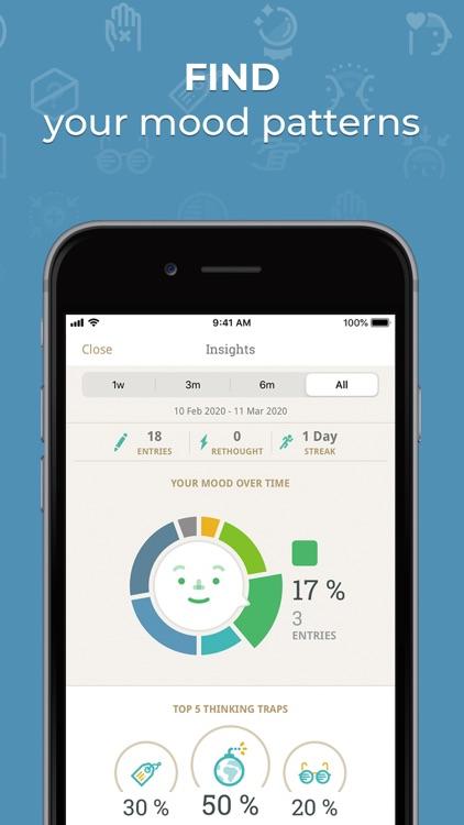 Moodnotes - Mood & CBT Tracker screenshot-3