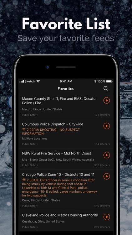 Police Scanner, Fire Radio screenshot-7