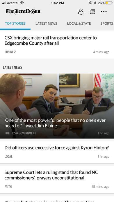 Durham Herald Sun screenshot one