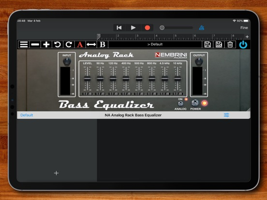Analog Rack Bass Equalizer