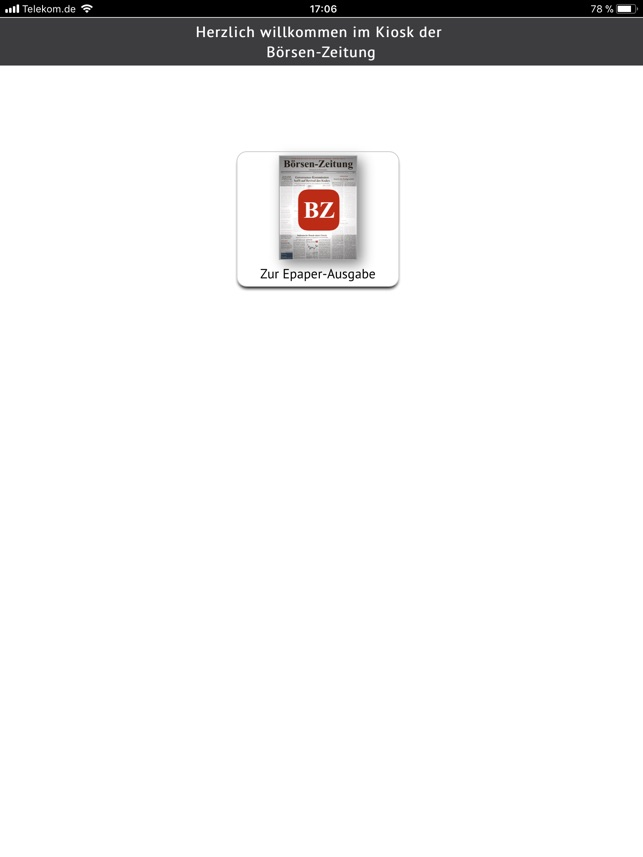 Borsen Zeitung Kiosk On The App Store