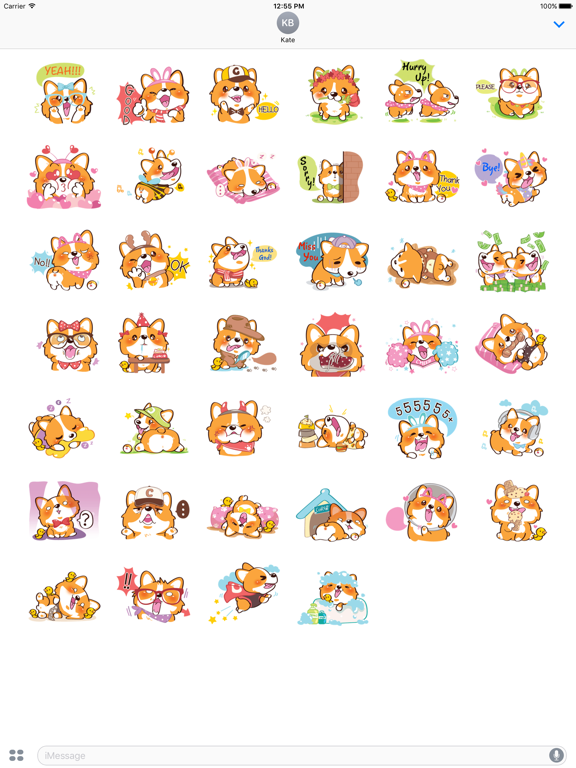 Super Cute Corgi Dog Stickers screenshot 6