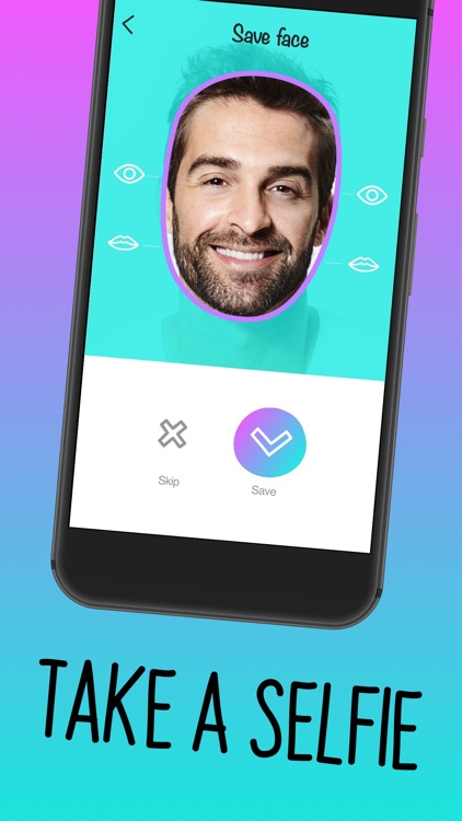 Faces - video, gif for texting