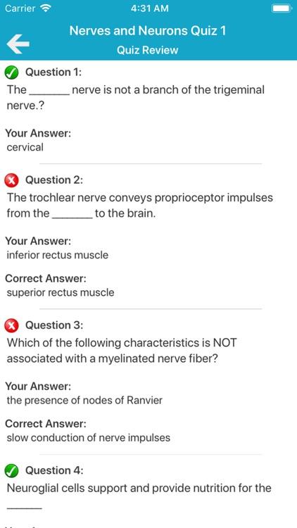 Nervous System Quizzes screenshot-5