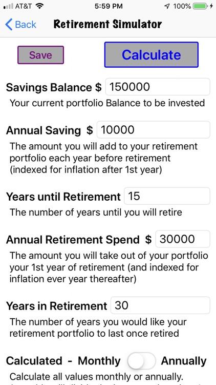 Retirement Investing Simulator screenshot-3