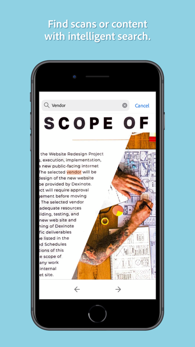 Adobe Scan Digital PDF Scanner Screenshot