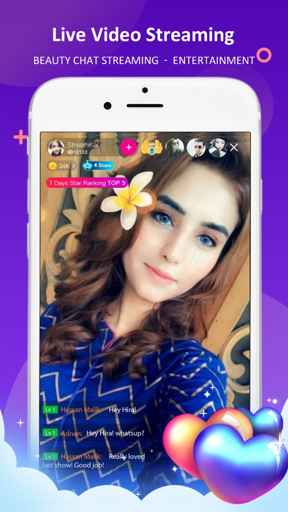 StreamKar - Live Video Chat App for iPhone - Free Download