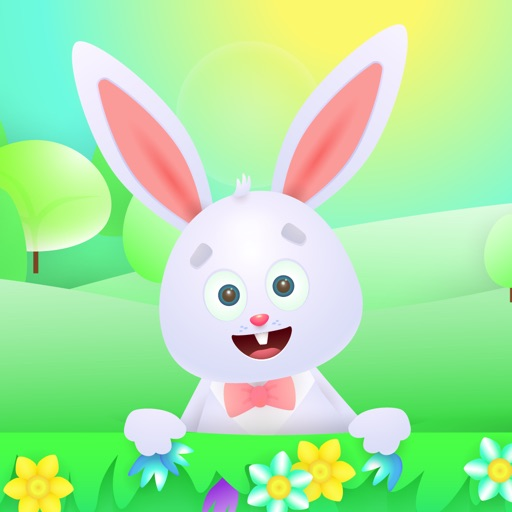 Easter Bunny Egg Hunt Sticker