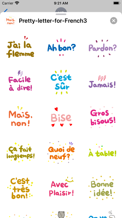 Pretty letter for French3 screenshot 3