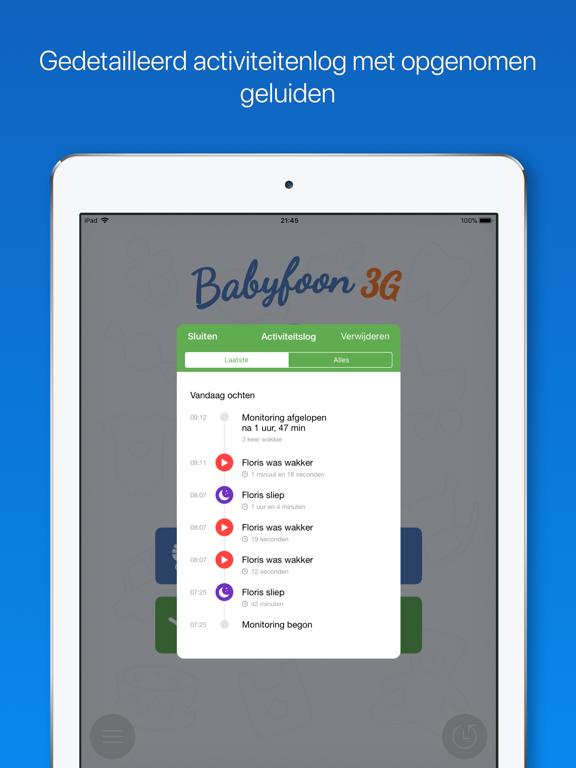 Babyfoon 3G iPad app afbeelding 5