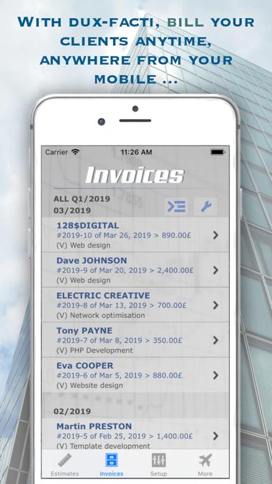 Estimates & Invoices Dux-facti screenshot one