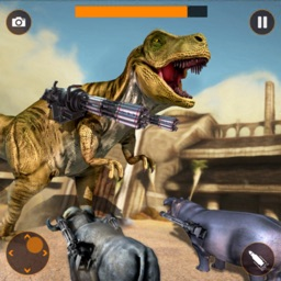 Dinosaur in Fighting Arena