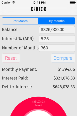 Debtor Debt Pay Off Calculator - náhled