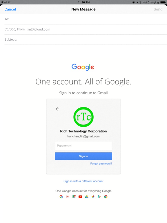 Email Group Service Screenshots