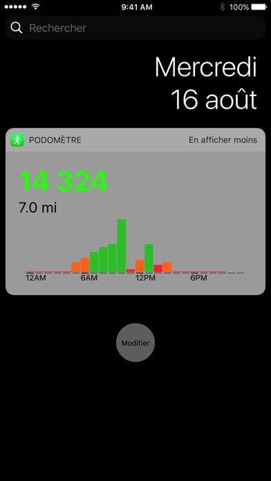 Podomètre++ iphone captures décran