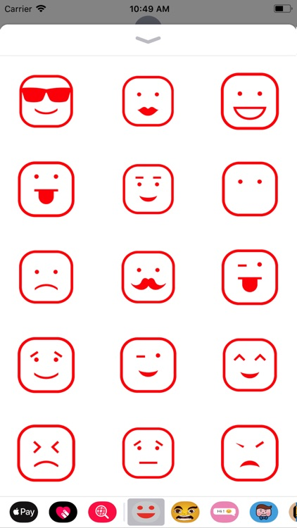 face simple sticker new 2019