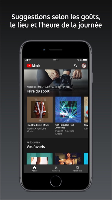 Screenshot for YouTube Music in France App Store