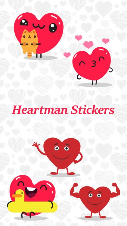 Animated Heartman Emojis