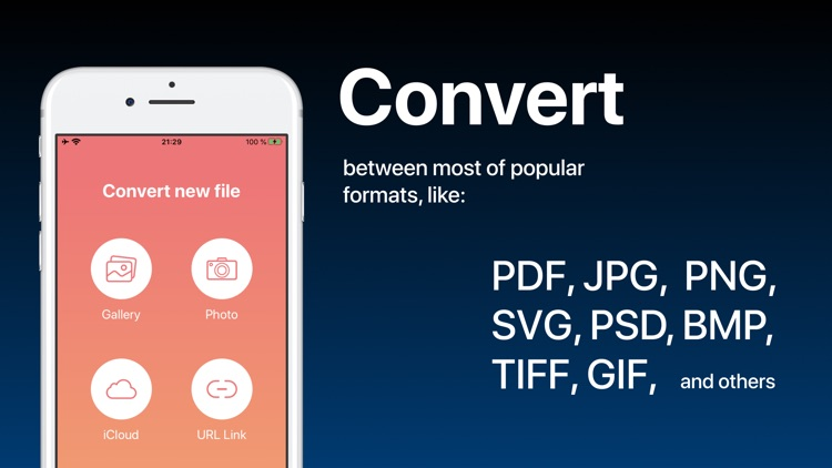 Image Converter: photos to PDF