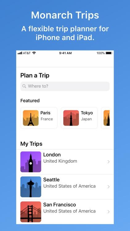 Monarch Trips - Trip Planner screenshot-0