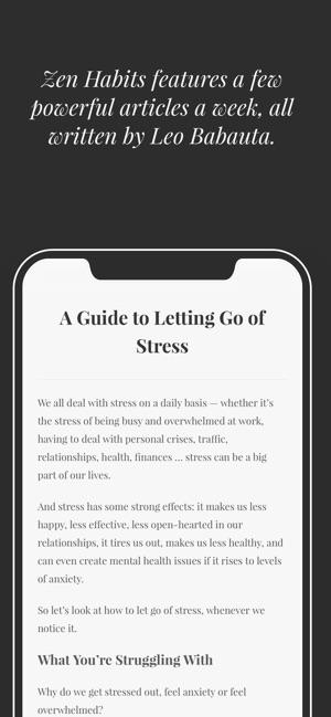 Zen Habits by Leo Babauta on the App Store