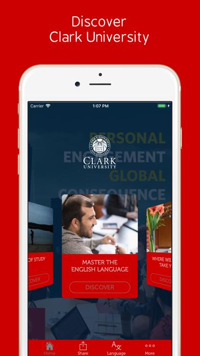 Clark University screenshot 2