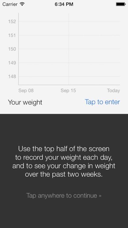 Lightweight: a calorie tracker