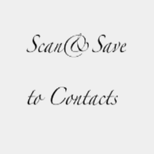 Scan&SaveContact