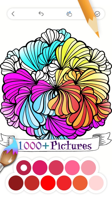 Coloring Book for Adults App • Screenshot on iOS