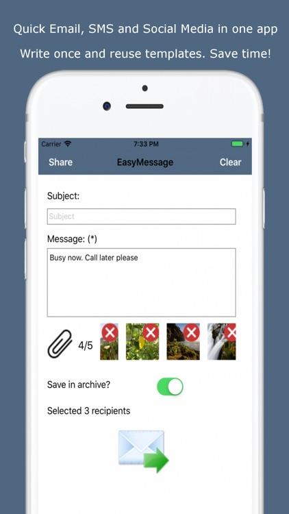 Easy Message - Group Bulk SMS screenshot-0
