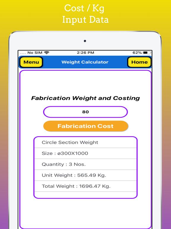 Fabrication Weight Calculator screenshot 18